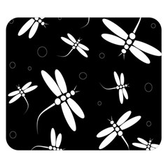 Dragonflies pattern Double Sided Flano Blanket (Small)