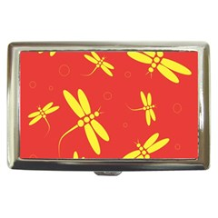 Red and yellow dragonflies pattern Cigarette Money Cases