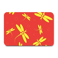 Red and yellow dragonflies pattern Plate Mats