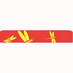 Red and yellow dragonflies pattern Small Bar Mats