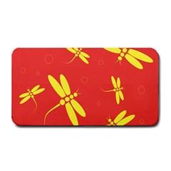 Red and yellow dragonflies pattern Medium Bar Mats