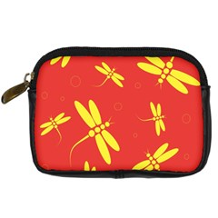 Red and yellow dragonflies pattern Digital Camera Cases