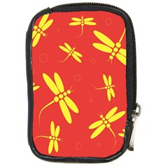 Red and yellow dragonflies pattern Compact Camera Cases