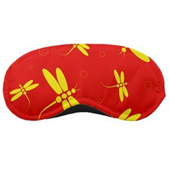 Red and yellow dragonflies pattern Sleeping Masks