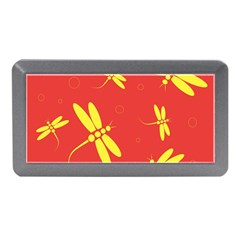 Red And Yellow Dragonflies Pattern Memory Card Reader (mini)