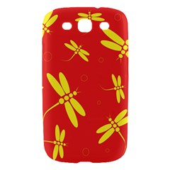 Red and yellow dragonflies pattern Samsung Galaxy S III Hardshell Case