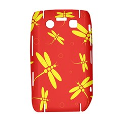 Red and yellow dragonflies pattern Bold 9700