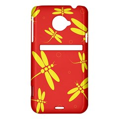 Red and yellow dragonflies pattern HTC Evo 4G LTE Hardshell Case