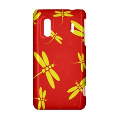 Red and yellow dragonflies pattern HTC Evo Design 4G/ Hero S Hardshell Case