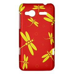 Red and yellow dragonflies pattern HTC Radar Hardshell Case
