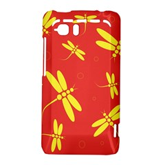 Red and yellow dragonflies pattern HTC Vivid / Raider 4G Hardshell Case