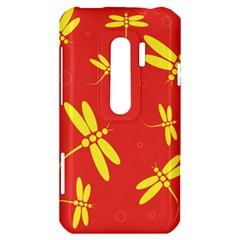Red and yellow dragonflies pattern HTC Evo 3D Hardshell Case