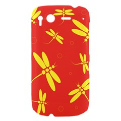 Red and yellow dragonflies pattern HTC Desire S Hardshell Case