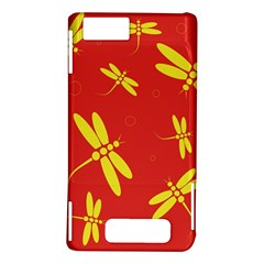 Red and yellow dragonflies pattern Motorola DROID X2