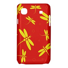 Red and yellow dragonflies pattern Samsung Galaxy SL i9003 Hardshell Case