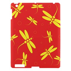 Red and yellow dragonflies pattern Apple iPad 3/4 Hardshell Case