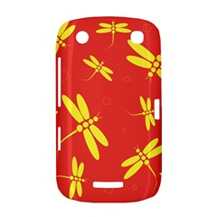 Red and yellow dragonflies pattern BlackBerry Curve 9380