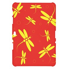 Red and yellow dragonflies pattern Samsung Galaxy Tab 10.1  P7500 Hardshell Case