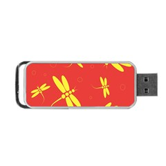 Red and yellow dragonflies pattern Portable USB Flash (One Side)