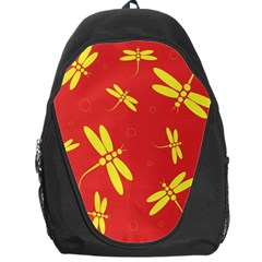 Red and yellow dragonflies pattern Backpack Bag