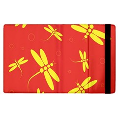 Red and yellow dragonflies pattern Apple iPad 3/4 Flip Case