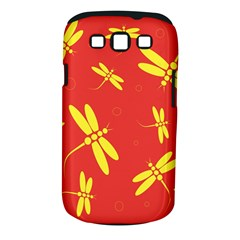 Red and yellow dragonflies pattern Samsung Galaxy S III Classic Hardshell Case (PC+Silicone)