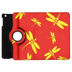 Red and yellow dragonflies pattern Apple iPad Mini Flip 360 Case