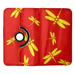 Red and yellow dragonflies pattern Samsung Galaxy Note II Flip 360 Case