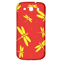 Red and yellow dragonflies pattern Samsung Galaxy S3 S III Classic Hardshell Back Case