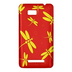 Red and yellow dragonflies pattern HTC One SU T528W Hardshell Case