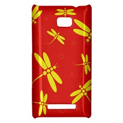 Red and yellow dragonflies pattern HTC 8X