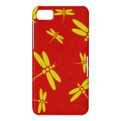 Red and yellow dragonflies pattern BlackBerry Z10