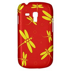 Red and yellow dragonflies pattern Samsung Galaxy S3 MINI I8190 Hardshell Case