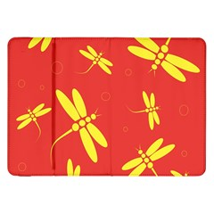 Red and yellow dragonflies pattern Samsung Galaxy Tab 8.9  P7300 Flip Case