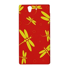 Red and yellow dragonflies pattern Sony Xperia Z