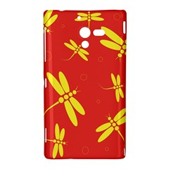 Red and yellow dragonflies pattern Sony Xperia ZL (L35H)