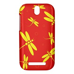 Red and yellow dragonflies pattern HTC One SV Hardshell Case