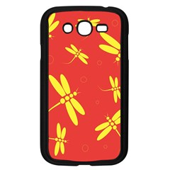 Red and yellow dragonflies pattern Samsung Galaxy Grand DUOS I9082 Case (Black)