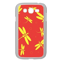 Red and yellow dragonflies pattern Samsung Galaxy Grand DUOS I9082 Case (White)