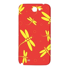 Red and yellow dragonflies pattern Samsung Note 2 N7100 Hardshell Back Case