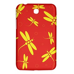 Red and yellow dragonflies pattern Samsung Galaxy Tab 3 (7 ) P3200 Hardshell Case