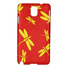 Red and yellow dragonflies pattern Samsung Galaxy Note 3 N9005 Hardshell Case