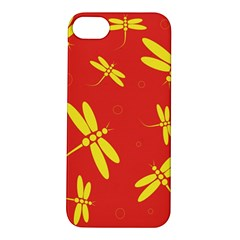 Red and yellow dragonflies pattern Apple iPhone 5S/ SE Hardshell Case