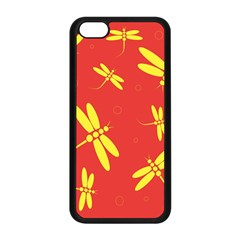 Red and yellow dragonflies pattern Apple iPhone 5C Seamless Case (Black)