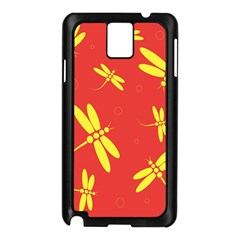 Red and yellow dragonflies pattern Samsung Galaxy Note 3 N9005 Case (Black)