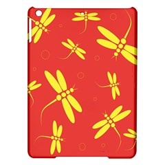 Red and yellow dragonflies pattern iPad Air Hardshell Cases