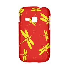 Red and yellow dragonflies pattern Samsung Galaxy S6310 Hardshell Case