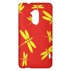 Red and yellow dragonflies pattern HTC One Max (T6) Hardshell Case
