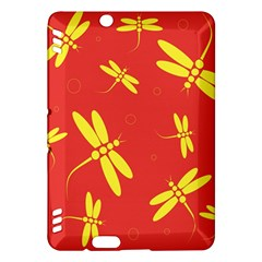 Red and yellow dragonflies pattern Kindle Fire HDX Hardshell Case