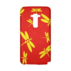 Red and yellow dragonflies pattern LG G Flex